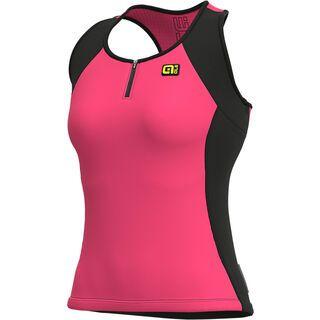 Ale Color Block Lady Top, fluo pink - Radtrikot