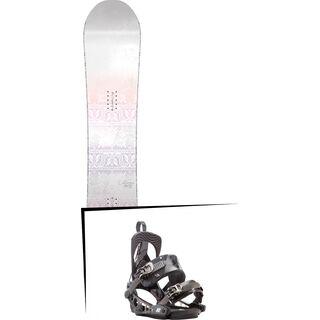 Set: Nitro Pro One Off Silje Norendal 2017 + K2 Cinch Tryst 2017, black - Snowboardset