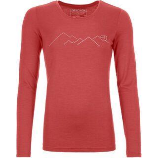 Ortovox 185 Merino Mountain Long Sleeve W, blush - Unterhemd
