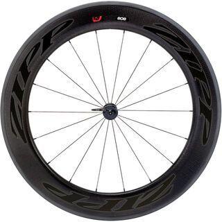 Zipp 808 Firecrest Carbon Clincher, schwarz/mattschwarze Aufkleber - Vorderrad