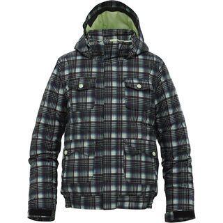 Burton Girls Twist Bomber Jacket, True Black Candy Plaid - Snowboardjacke