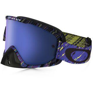 Oakley O2 MX inkl. Wechselscheibe, rain of terror blue purple/Lens: black ice iridium - MX Brille