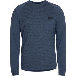 ION Tee LS Roam, insignia blue melange - Radtrikot