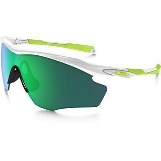 Oakley M2 Frame XL, polished white/Lens: jade iridium - Sportbrille
