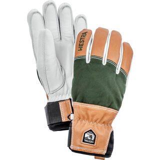 Hestra Army Leather Abisko 5 Finger, dark green - Skihandschuhe