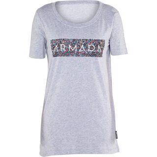 Armada Floral Tee, heather grey - T-Shirt