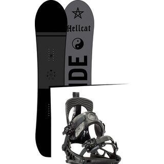 Set: Ride Hellcat 2017 + K2 Cinch Tryst 2016, black - Snowboardset
