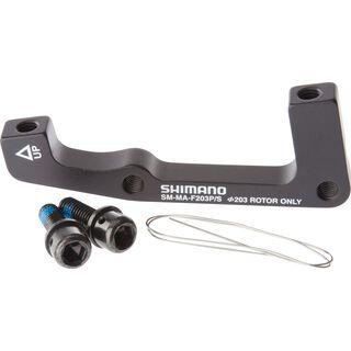 Shimano Scheibenbrems-Adapter von PM-Bremssattel auf IS-Gabel/-Rahmen - VR, 203 mm