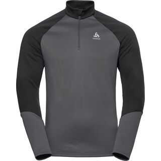 Odlo Midlayer 1/2 Zip Planches, black/graphite grey - Fleecepullover