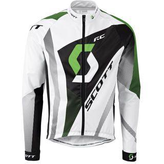 Scott AS RC Pro plus l/sl Shirt, white/green - Radtrikot