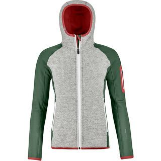 Ortovox Merino Fleece Plus Classic Knit Hoody W, green forest - Fleecehoody