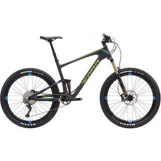 Kona Hei Hei Trail DL 2017, carbon/lime/blue - Mountainbike