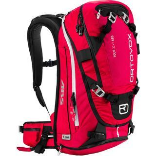Ortovox Tour 32+7 ABS, red berry - ABS-Rucksack