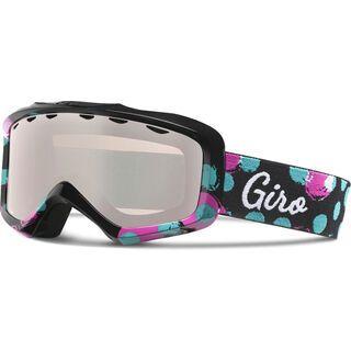 Giro Charm, black magenta bubblegum/rose silver - Skibrille