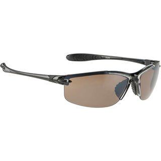 Alpina Glyder, black transparent/platinum mirror - Sportbrille