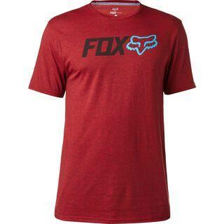Fox Obsessed SS Tech Tee, heather red - Radtrikot