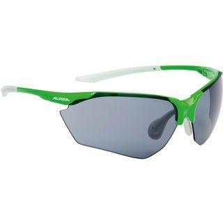 Alpina Splinter HR C+, green-white/Lens: ceramic+ black - Sportbrille