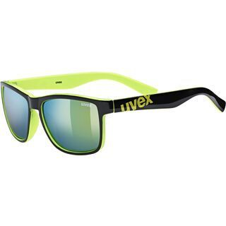 uvex lgl 39, black lime/Lens: mirror yellow - Sonnenbrille