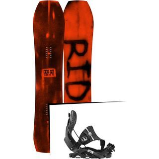 Set: Ride Warpig Large 2017 + Flow Nexus Hybrid 2017, black - Snowboardset