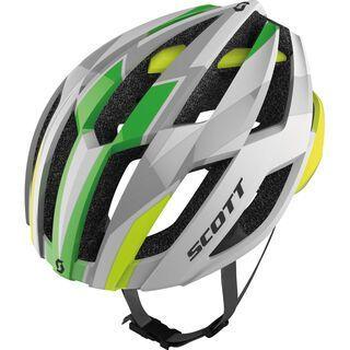 Scott Arx, white/lime green matt - Fahrradhelm