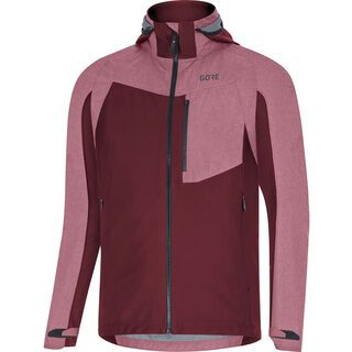 Gore Wear C5 Gore-Tex Infinium Hybrid Kapuzenjacke, chestnut red - Radjacke