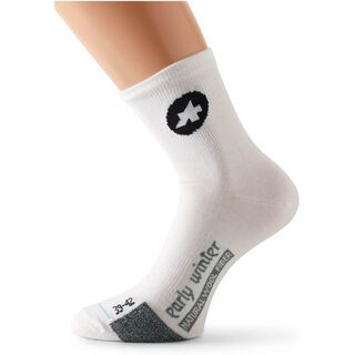Assos earlyWinterSocks, white Panther