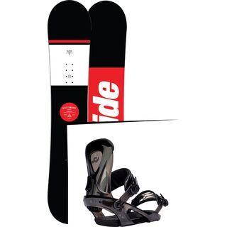 Set: Ride Agenda 2017 + Ride KX 2017, black - Snowboardset