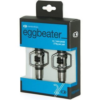 Crank Brothers Eggbeater 2, silber/schwarz - Pedale