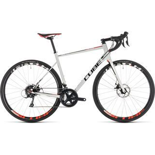 Cube Attain Pro Disc 2019, white´n´red - Rennrad