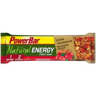 PowerBar Natural Energy Fruit Bar (Vegan) - Cranberry - Energieriegel