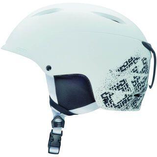 Giro Bevel, Matte White Block Ltrs - Snowboardhelm