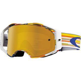 Oakley Airbrake MX, glitch bog/fire iridium - MX Brille