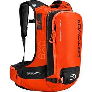 Ortovox Free Rider 22 ohne Avabag-Unit, crazy orange - Lawinenrucksack
