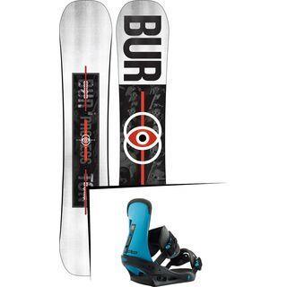 Set: Burton Process Flying V Wide 2019 + Burton Freestyle cobalt blue