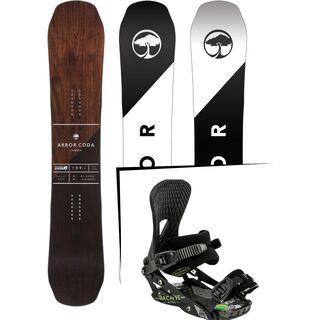 Set: Arbor Coda Camber 2017 + Nitro Machine 2015, black - Snowboardset