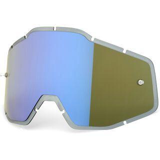 100% Racecraft/Accuri/Strata Replacement Lens, blue mirror/smoke