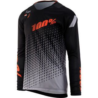 100% R-Core DH Jersey, supra black/grey - Radtrikot