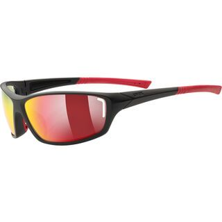 uvex sportstyle 210, black m.red/Lens: mirror red - Sportbrille