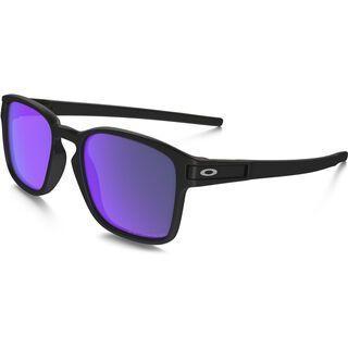 Oakley Latch Square Polarized, matte black/Lens: violet iridium - Sonnenbrille