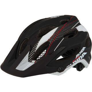 Alpina Carapax, black white red - Fahrradhelm