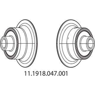 Zipp Endkappen für Nabe 77, vorn - Achsadapter