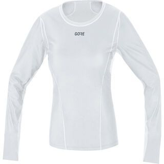 Gore Wear M Damen Gore Windstopper Baselayer Thermo Shirt Lang, light grey/white - Unterhemd