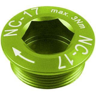 NC-17 Hollow II M20x1 MTB Kurbelschraube, green