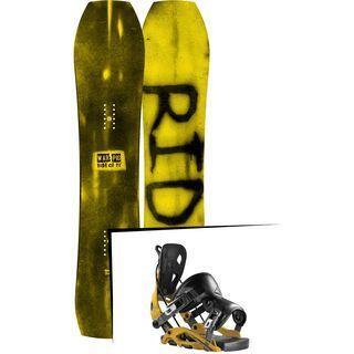 Set: Ride Warpig Small 2017 + Flow Fuse 2017, mustard - Snowboardset