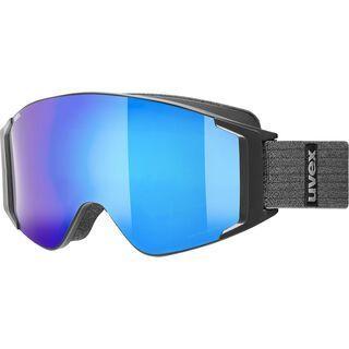 uvex g.gl 3000 TO + WS, black mat/Lens: mirror blue - Skibrille