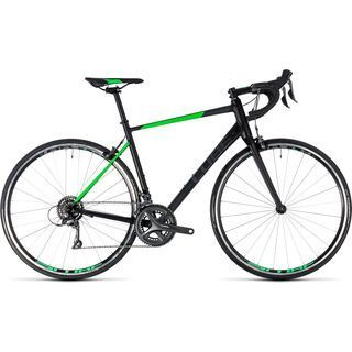 Cube Attain 2018, black´n´flashgreen - Rennrad