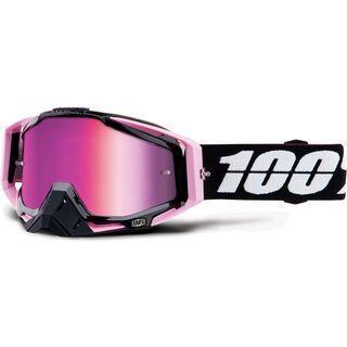 100% Racecraft inkl. WS, floyd/Lens: mirror pink - MX Brille