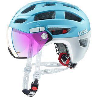 uvex finale visor, strato cool blue - Fahrradhelm