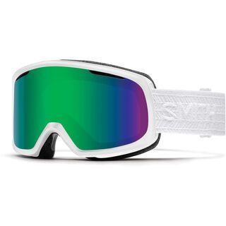 Smith Riot inkl. Wechselscheibe, white eclipse/Lens: green sol-x - Skibrille