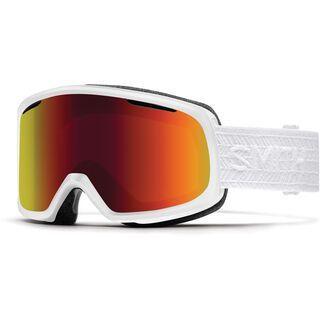 Smith Riot inkl. Wechselscheibe, white/Lens: red sol-x mirror - Skibrille